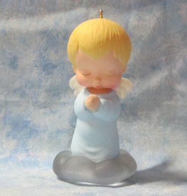 Hallmark Keepsake Christmas Ornament Mary's Angels 1989 Bluebell #2 Angel NO Box ~*~v