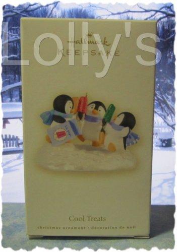 Hallmark Keepsake Christmas Ornament 2008 Cool Treats Penguins Sharing Popsicles GB ~*~