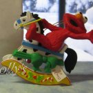 Jim Henson Christmas Ornament Sesame Street Muppets 1992 Elmo Moster on Rocking Horse ~*~