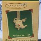 Hallmark MINIATURE Keepsake Christmas Ornament Afternoon Tea Pot 2003 Teapot #1 VGB ~*~