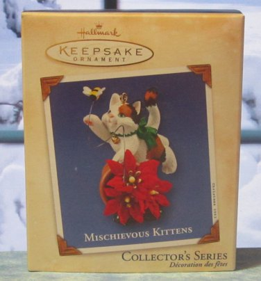 Hallmark Keepsake Christmas Ornament Mischievous Kittens 2002 Cat #4 GB ~*~