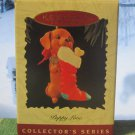 Hallmark Keepsake Christmas Ornament Puppy Love 1996 Dachshund Stocking #6 FB ~*~