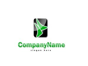 Green and black logo # 1007