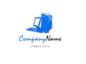 Blue tech / computer logo #1026