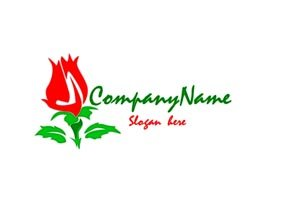 Red and green flower company logo #1029