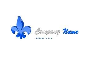 Blue and silver spade logo #1030