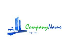 Blue and green bldg logo #1031