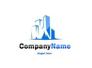 Blue city scape logo #1035