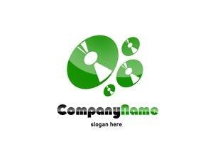 Green music logo #1038