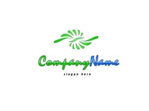 Green and blue classy logo #1042