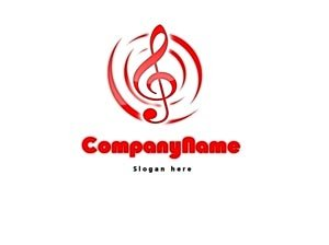Music logo red #1045