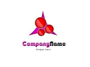 Pink and red logo #1057