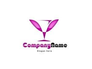 Pink and black logo #1057