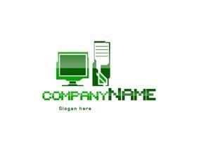 Green computer logo #1062