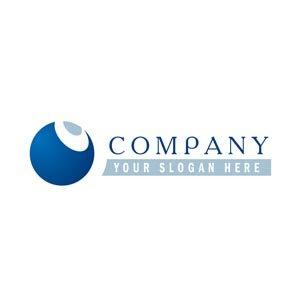 Simple 2 tone blue logo #1186
