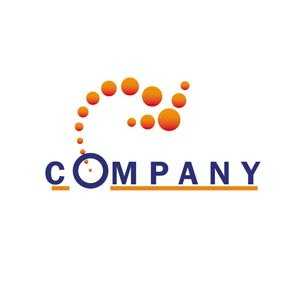 Orange and purple arrow logo #1187