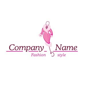Pink fashion logo #1190