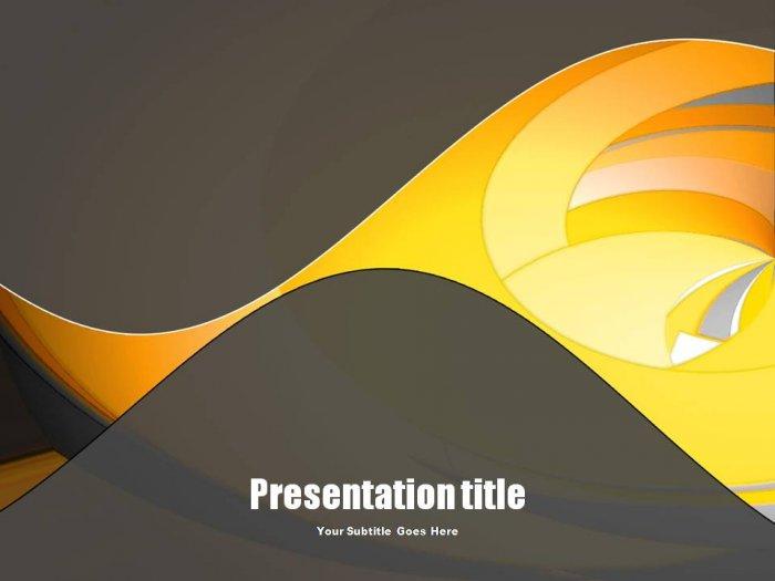 PowerPoint yellow swirl theme_001
