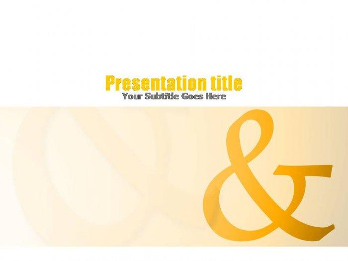 PowerPoint Yellow & Orange ampersand theme_004