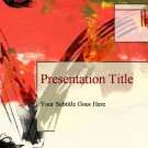 PowerPoint Red artistic theme_2003