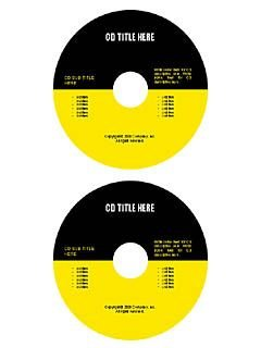 Yellow and black cd/dvd template