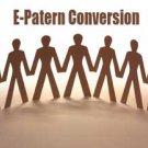 E-pattern conversions
