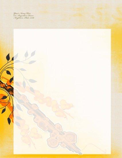 Japanese themed letterhead 005