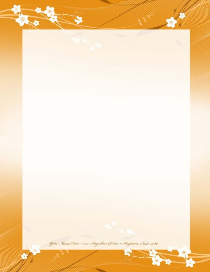 Orange flower letterhead 008