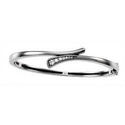 NEW 14K White Gold Journey Diamond Bracelet