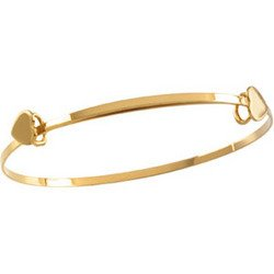 14K Yellow Gold Child's Expandable Heart Bracelet