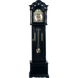 Edward Meyer� Grandfather Clock with Black Finish and Mother-of-Pearl Inlay