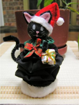 Christmas yoyo cat doll pattern ebook