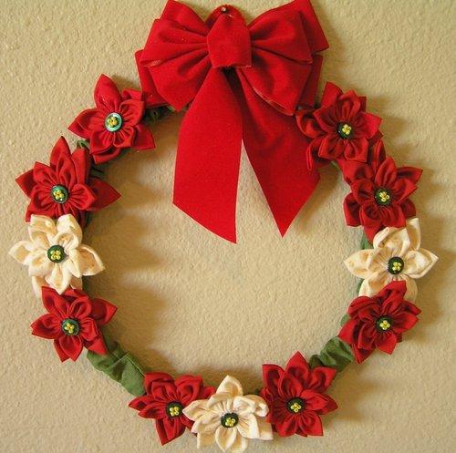 Poinsetta YoYo Wreath Pattern