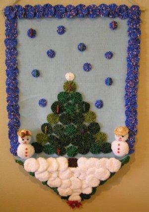 christmas yoyo card wall hanging ebook