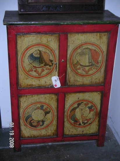 Indian Hand Painted Cabinet 01