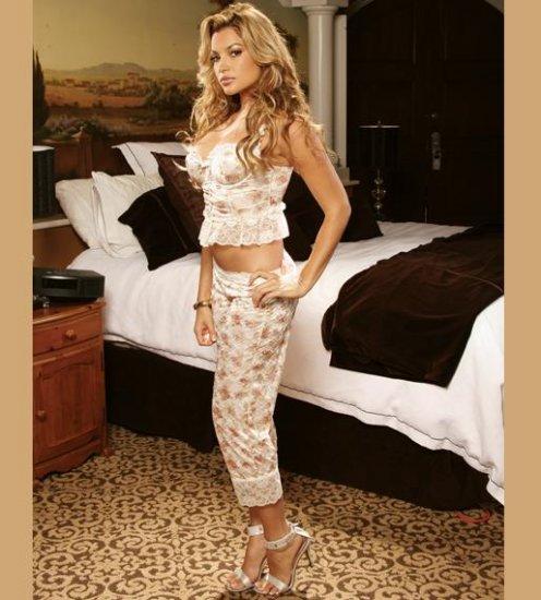 Camisole with Capri Pants - Floral Print and Lace SIZES: S-M-L-XL  #DL1097 Women's Lingerie