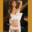 EMBROIDERED BABY DOLL PLUS SIZES: 1X-2X-3X  #DL1127  Women's Lingerie