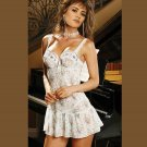 FLORAL PRINT BABY DOLL with Sequin Trim PLUS SIZES: 1X-2X-3X #DL1138  Women's Lingerie