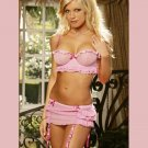 Polka Dot BRA with SKIRTED GARTER and attached G-String SIZES: S-M-L-XL #DL1197  Women's Lingerie