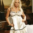 Satin and Lace BABY DOLL  PLUS SIZES: 1X-2X-3X  #DL1125 Women's Lingerie