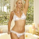 Satin Peek a Boo BRA and Matching G-STRING #DL1292  Women's Lingerie
