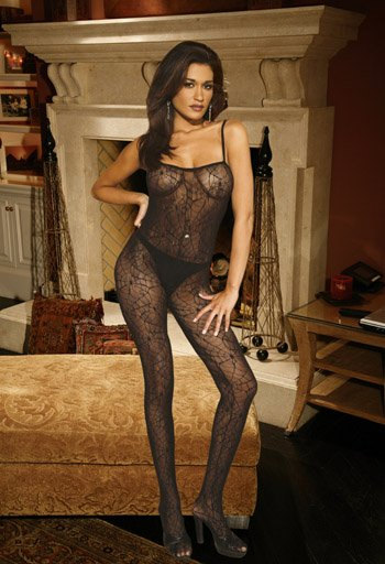 Spiderweb BODYSTOCKING with Open Crotch #DLG2122