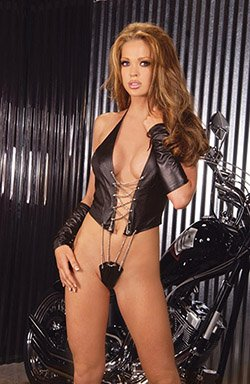 Leather and Chain TEDDY #DLL3042 Plus Size