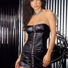 Leather Mini Dress #DLL3172 Plus Size