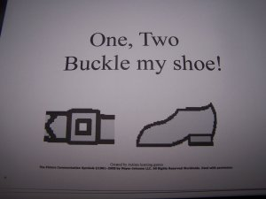 One, Two Buckle my shoe book autism,PECS, Educational