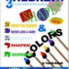 Hebrew Shapes, Colors & Number, Flash Cards