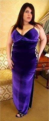 Elegant Velvet Sweetheart Gown Plus Size 1X-8X