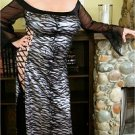 Silver Metalic Long Hologram Gown Plus Size