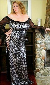 Silver Metalic Long Hologram Gown Plus Size