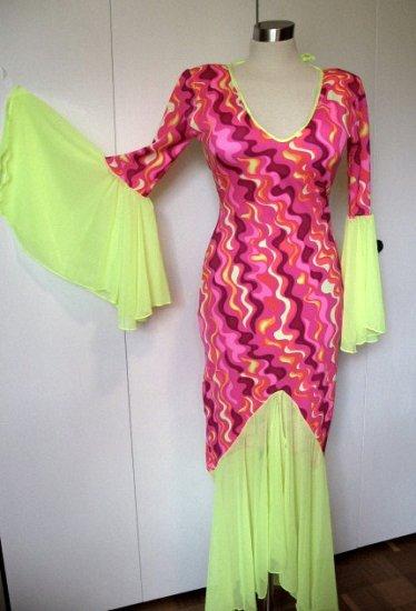Retro Purple Swirl Plus Size Dress
